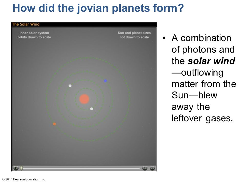 © 2014 Pearson Education, Inc.How did the jovian planets form.