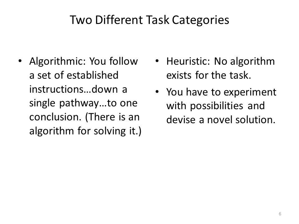 In the twentieth century, most work was algorithmic.
