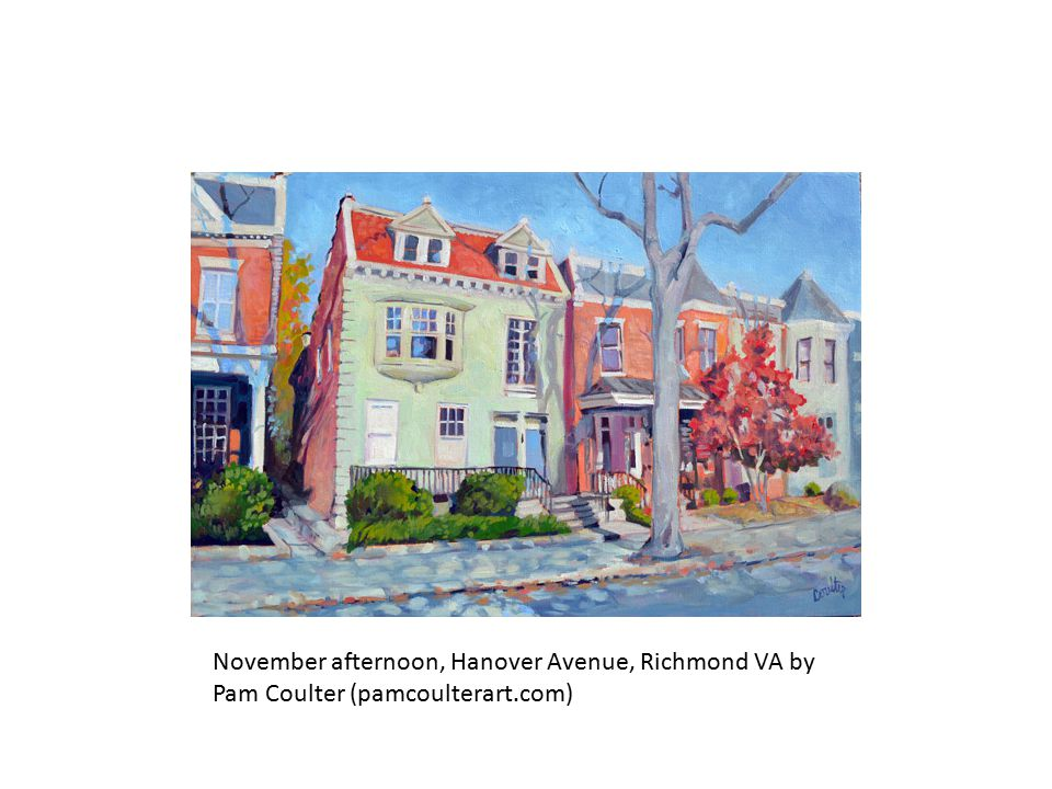 November afternoon, Hanover Avenue, Richmond VA by Pam Coulter (pamcoulterart.com)