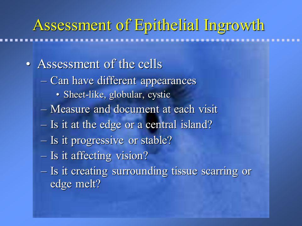 More Epithial Cell Ingrowth