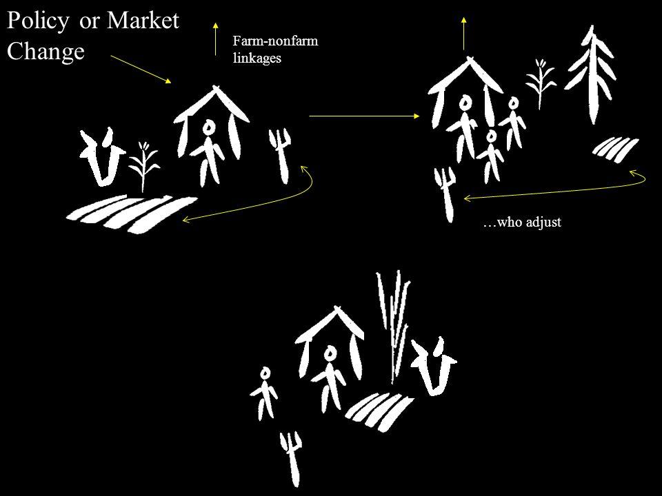 Policy or Market Change Farm-nonfarm linkages …who adjust