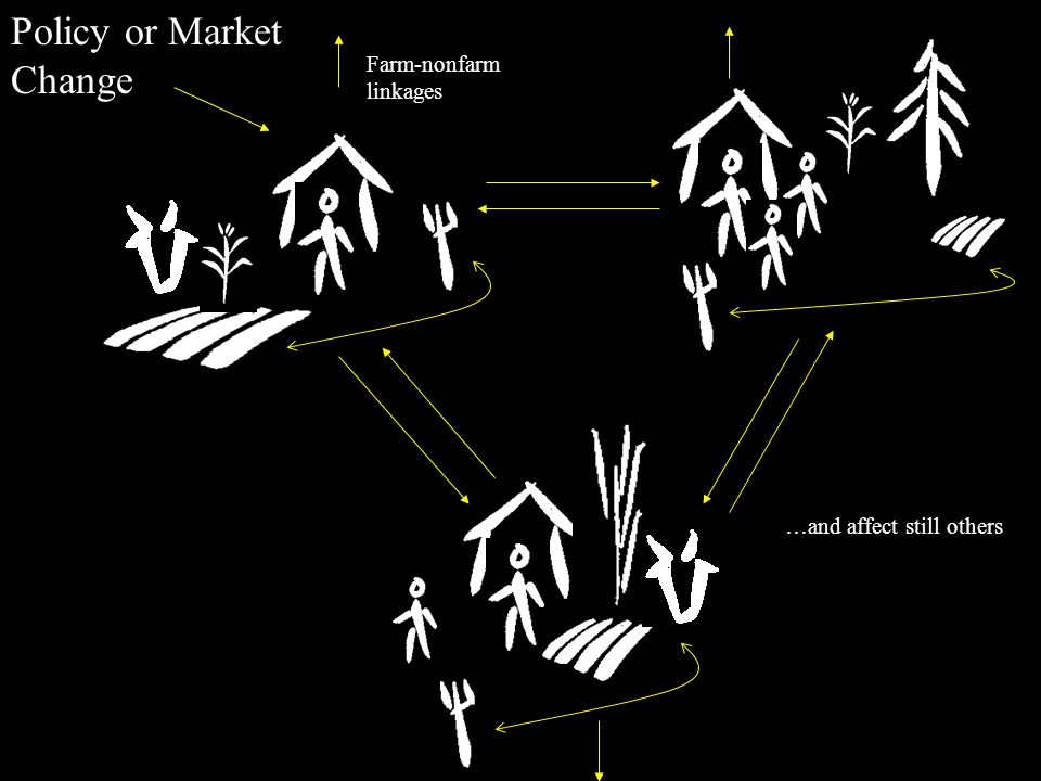 Policy or Market Change Farm-nonfarm linkages …and affect still others