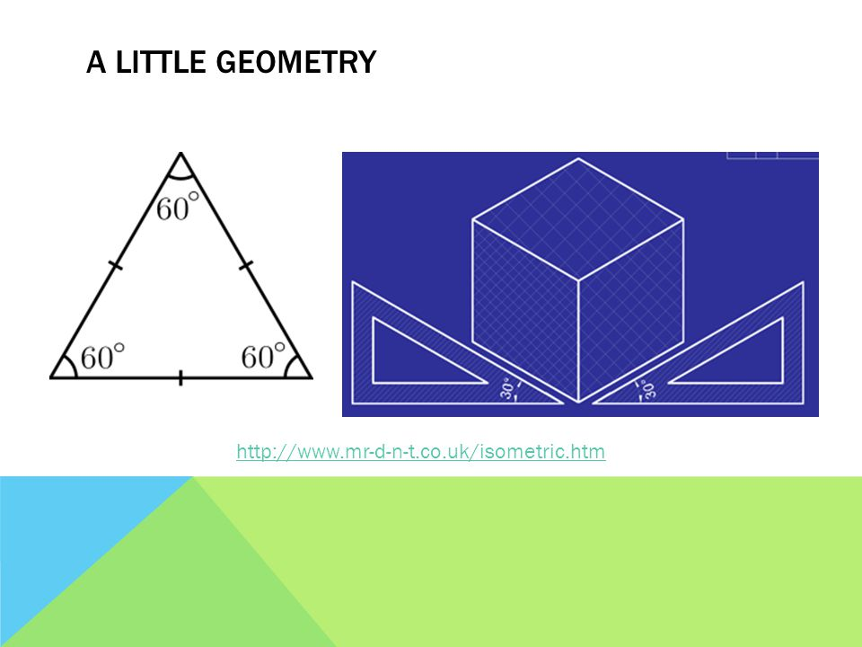 A LITTLE GEOMETRY http://www.mr-d-n-t.co.uk/isometric.htm