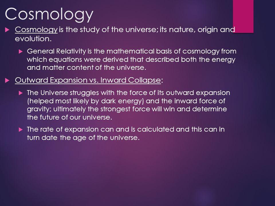 The Big Bang-13.7 billion years ago  Mathematical equations and models support the Big Bang Theory.