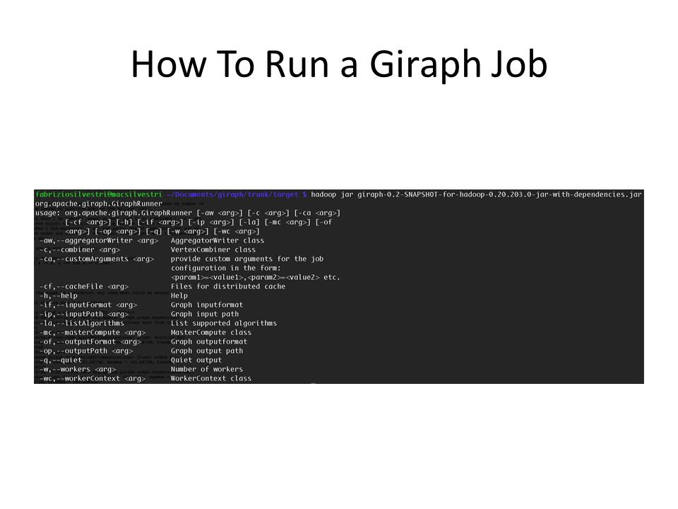 How To Run a Giraph Job