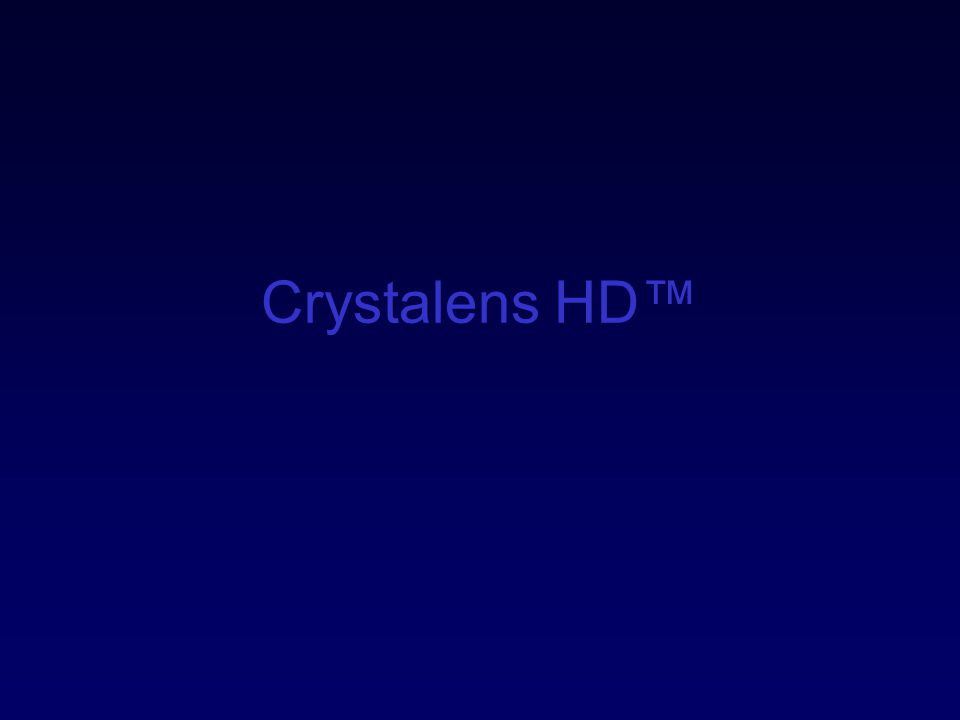 Crystalens HD™