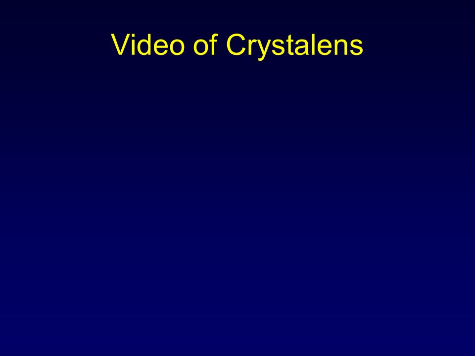 Video of Crystalens