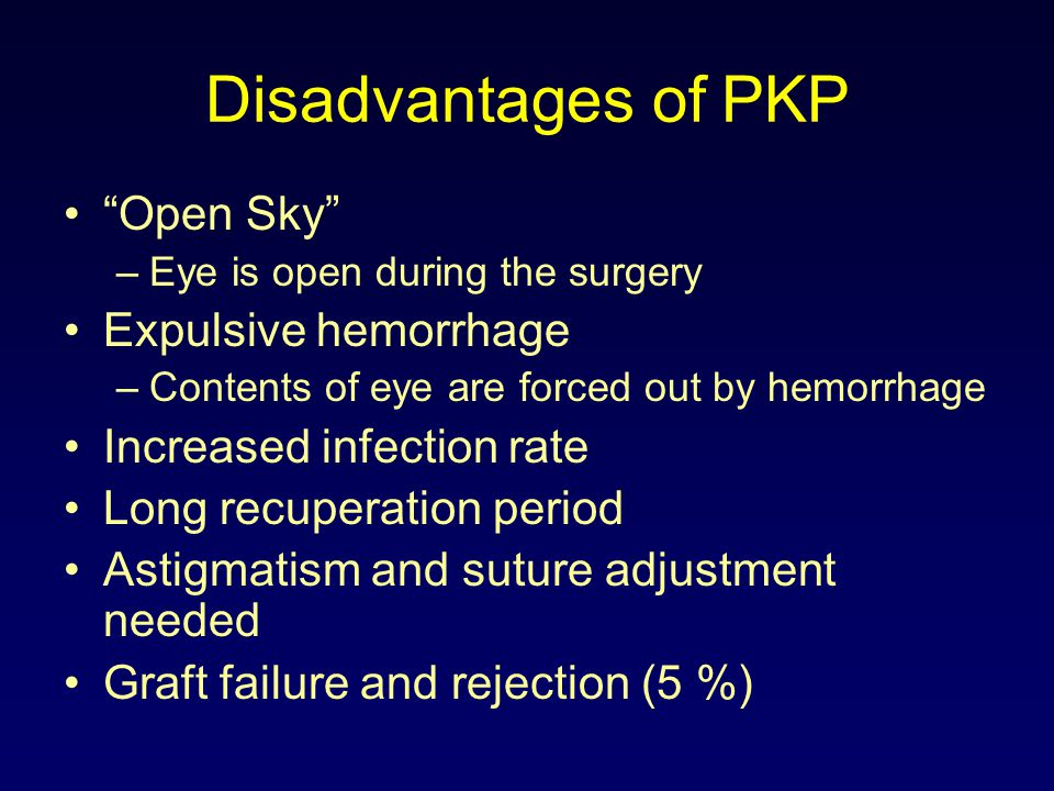 ECP Often performed at the time of cataract extraction Can be performed after ALT, SLT or filtering bleb surgery A majority of patients have their pressure reduced, leading many to eliminate drops
