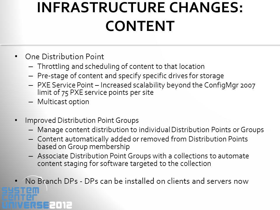 MINIMUM SYSTEM REQUIREMENTS: ComponentMinimum Requirement Site Server and Site RolesWindows Server 2008 (64-bit ) Windows Server 2008 R2 (64-bit) DatabaseSQL Server 2008 SP2 & Cumulative Update 7 (64-bit) & KB2603910 SQL Server 2008 R2 with SP 1 & Cumulative Update 3 (64-bit) & KB2603910 Distribution PointWindows Server 2003 (including 32-bit) with limited functionality Windows Vista SP2 and later (including 32-bit) ClientWindows XP SP2 & SP3 (32-bit & 64-bit) Windows 2003 Server SP2 (32-bit & 64-bit) Vista SP2 (32-bit & 64-bit) Windows 7 RTM & SP 1 (32-bit & 64-bit) Windows 2008 SP2 (32-bit & 64-bit) Windows 2008 R2 RTM & SP 1 (64-bit) Admin ConsoleVista SP2 (32-bit & 64-bit) Windows 7 RTM & SP 1 (32-bit & 64-bit) Windows 7 SP1 (32-bit & 64-bit) Windows 2008 SP2 (32-bit & 64-bit) Windows 2008 R2 RTM & SP 1 (64-bit)