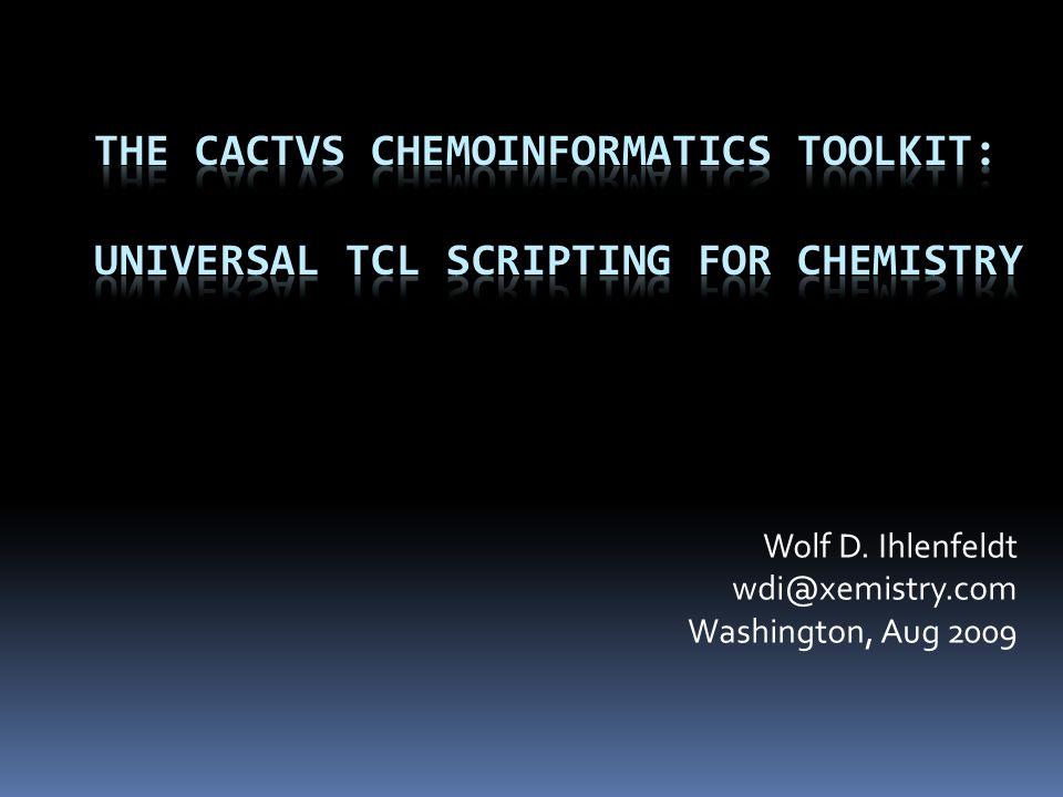 cactvs>molfile open molfile0 cactvs>molfile read molfile0 ens0 cactvs>ens get ens0 E_CID 1 cactvs>ens props ens0 E_* E_PUBCHEM_COMPOUND_ID E_CHARGE E_PUBCHEM_COMPOUND_CANONICALIZED E_COMPLEXITY E_NHACCEPTORS E_NHDONORS E_NROTBONDS E_SCREEN E_IUPAC_ALLOWED_NAME E_IUPAC_OECAS_NAME E_IUPAC_PREFERRED_NAME E_IUPAC_SYSTEMATIC_NAME E_IUPAC_TRADITIONAL_NAME E_INCHI E_INCHIKEY E_PUBCHEM_XLOGP3 E_EXACT_MASS E_FORMULA E_WEIGHT E_SMILES E_SMILES/2 E_TPSA E_WEIGHT/2 E_HEAVY_ATOM_COUNT E_STEREO_COUNT E_ISOTOPE_COUNT E_TAUTOMER_COUNT E_NMOLECULES E_FILE E_STDBLE cactvs>molfile scan molfile0 \ {and {E_CID {1 25000}} {E_PUBCHEM_AID_COUNT(active) > 0} } count 3391
