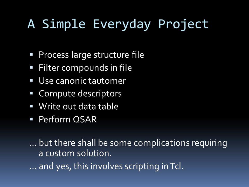 prop create E_SEQUENCE_NUMBER datatype int while 1 { set eh [dataset pop blackbox:18965] if {$eh== } break if {[catch {ens get $eh E_CANONIC_TAUTOMER} eh_canonic]} { ens delete $eh; continue } if {[catch {ens get $eh_canonic E_DESCRIPTORS}]} { ens delete $eh; continue } foreach p [list E_TPSA E_PUBCHEM_XLOGP3 E_CID E_SEQUENCE_NUMBER] { catch {ens set $eh_canonic $p [ens get $eh $p]} } ens move $eh_canonic blackbox:18966 ens delete $eh } Version 5