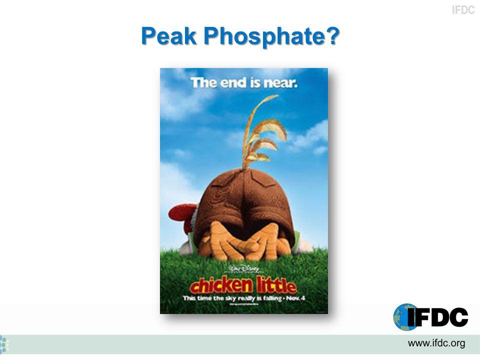 IFDC Peak Phosphate?