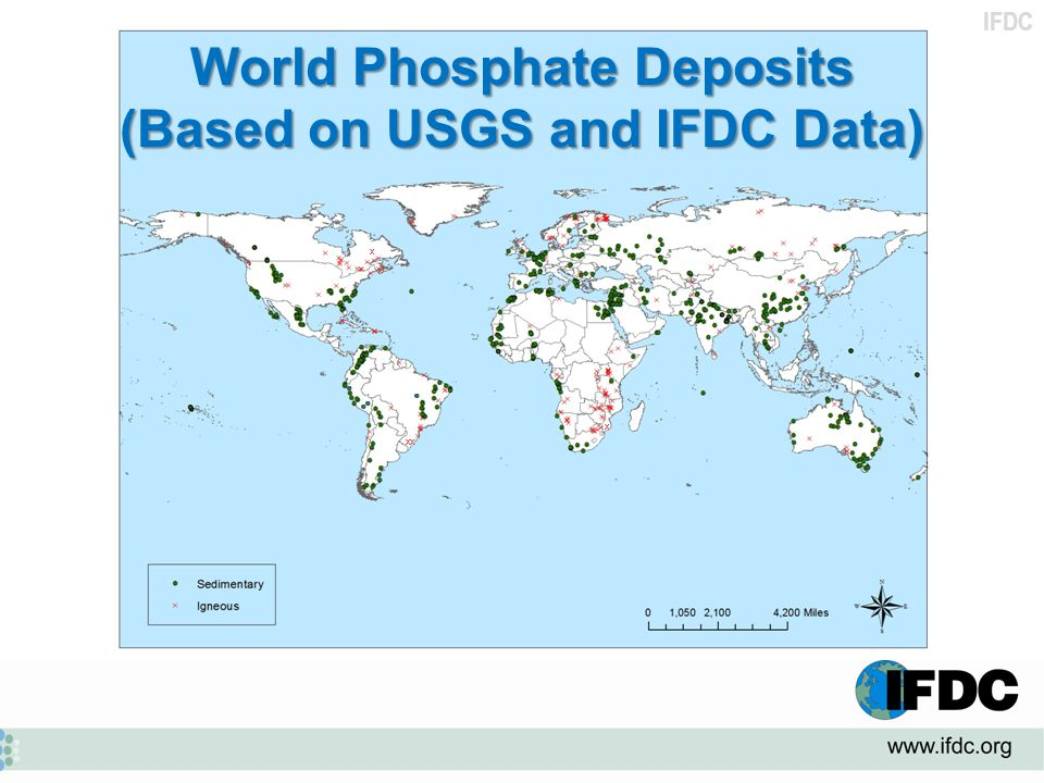 IFDC X XX X ● ● ● ● World Phosphate Deposits (Based on USGS and IFDC Data)