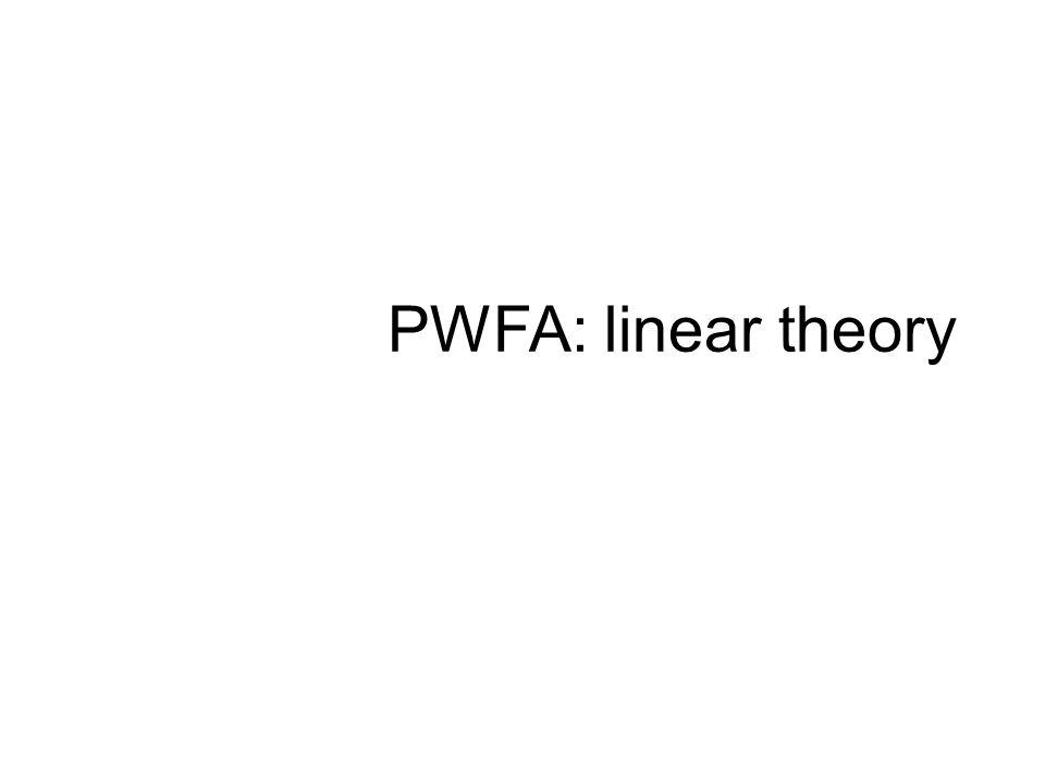 PWFA: linear theory