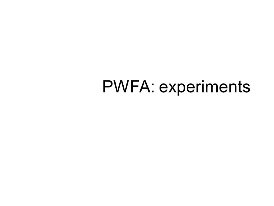 PWFA: experiments