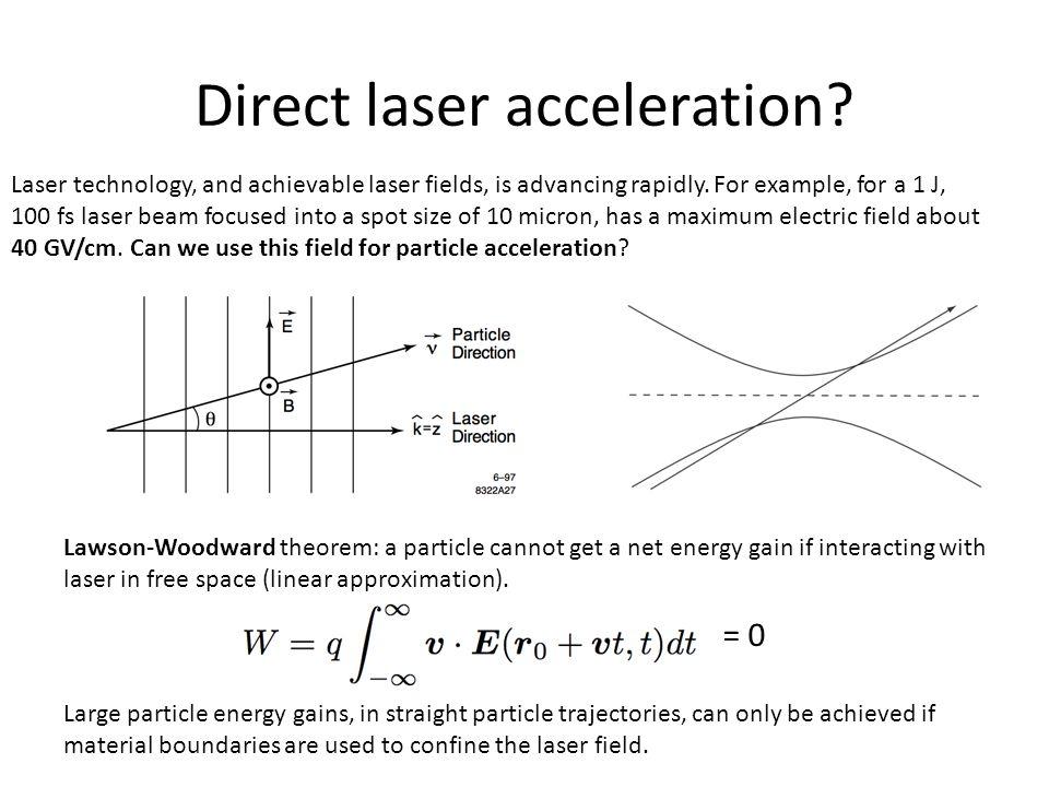 Direct laser acceleration.