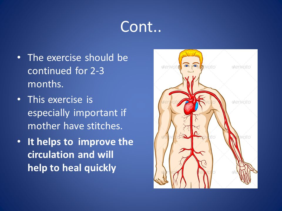 Cont..The exercise should be continued for 2-3 months.