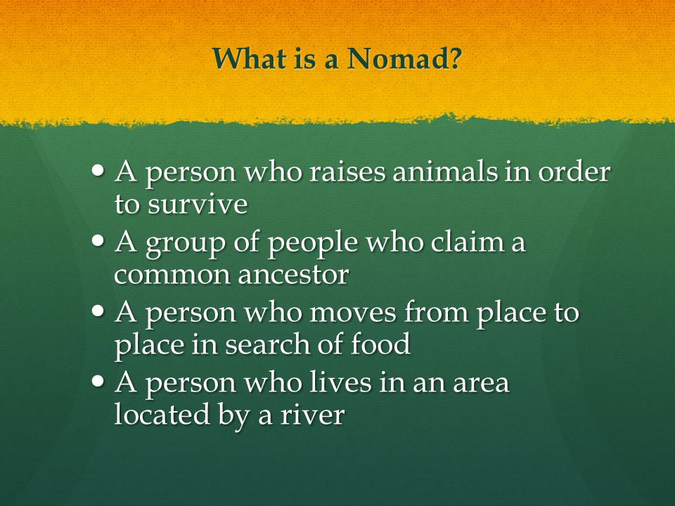 What is a Nomad.
