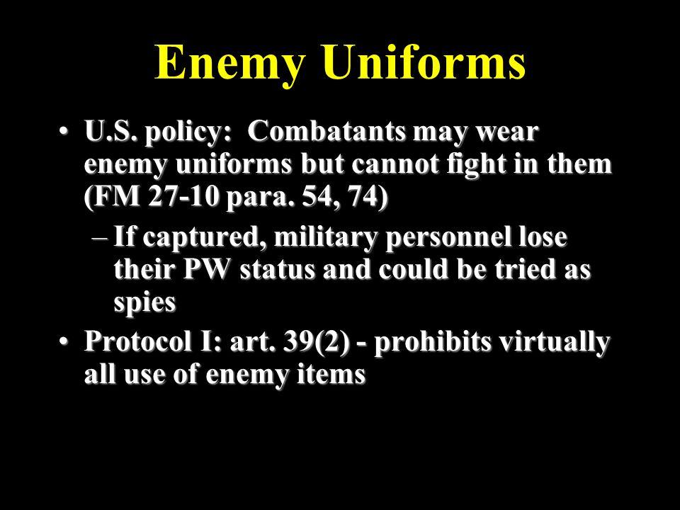 Enemy Uniforms U.S.