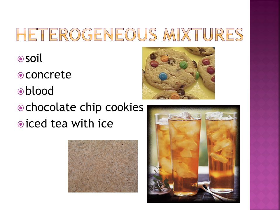  soil  concrete  blood  chocolate chip cookies  iced tea with ice
