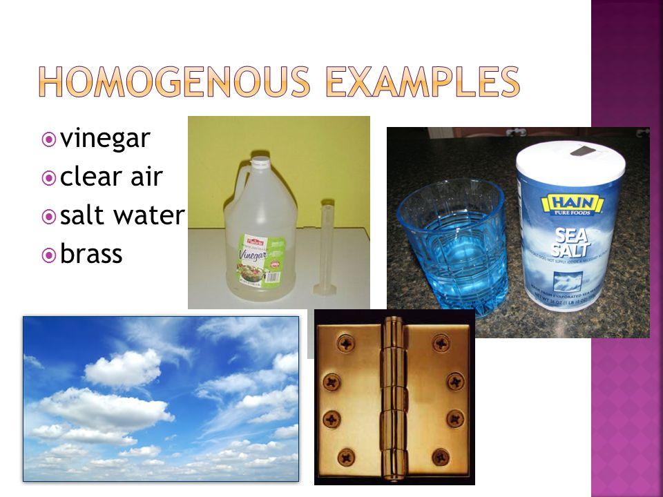  vinegar  clear air  salt water  brass
