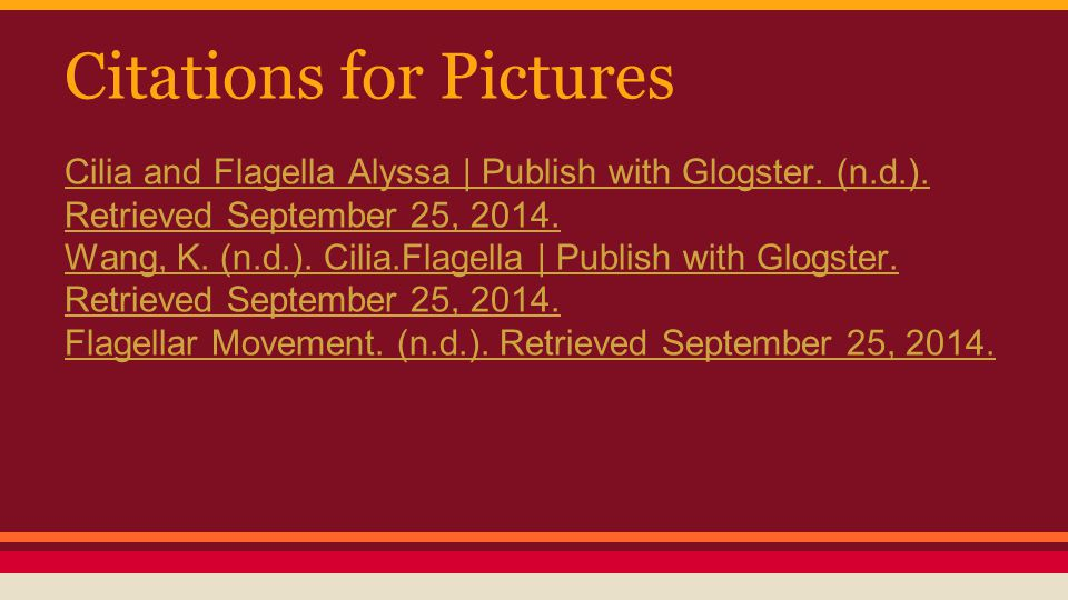 Citations for Pictures Cilia and Flagella Alyssa | Publish with Glogster.