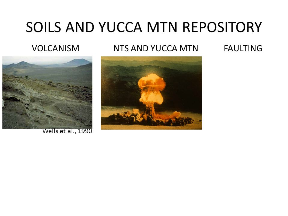 SOILS AND YUCCA MTN REPOSITORY VOLCANISMFAULTING Wells et al., 1990 NTS AND YUCCA MTN
