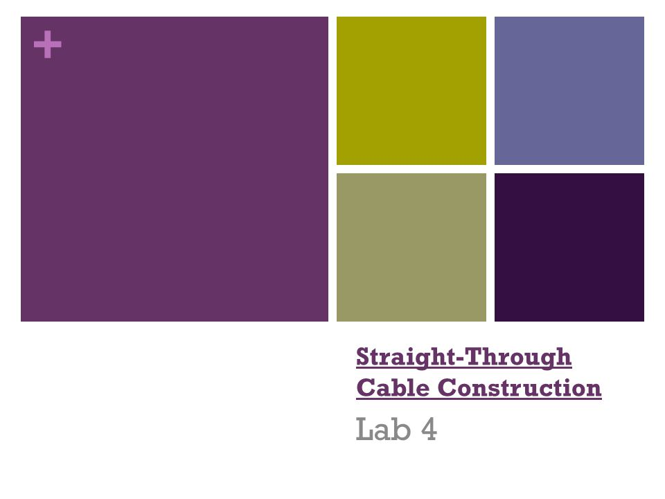 + Straight-Through Cable Construction Lab 4