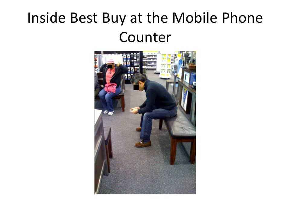 Inside Best Buy at the Mobile Phone Counter