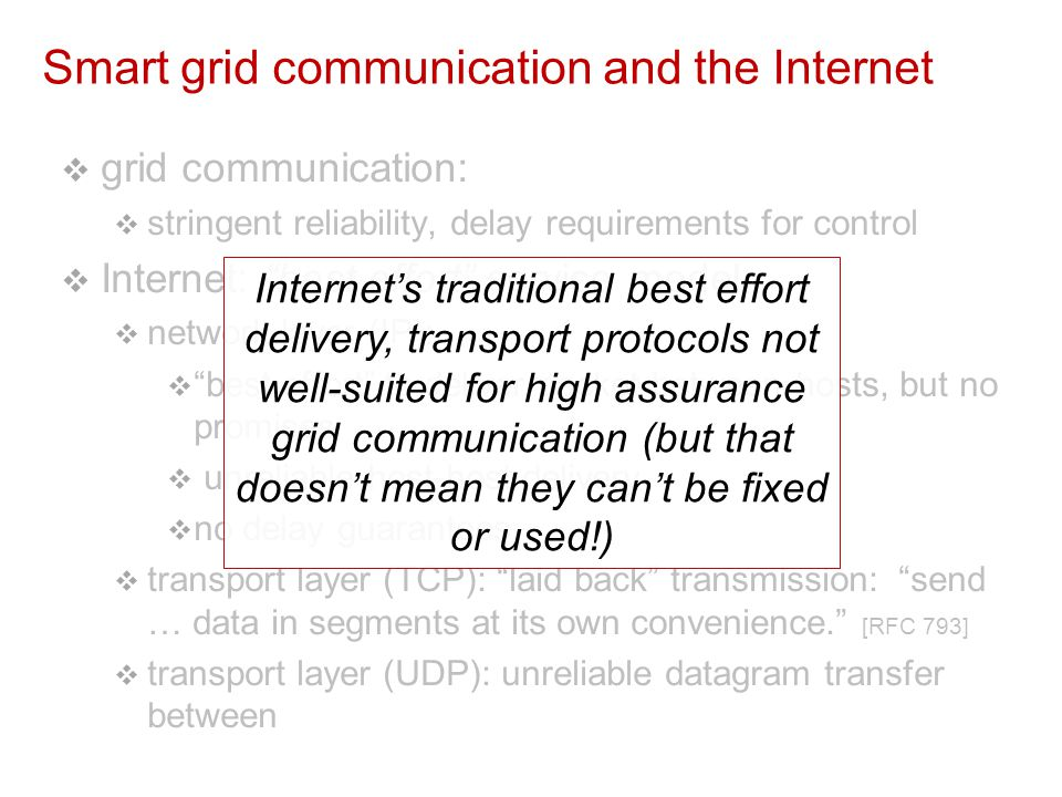 How can we, as networking researchers and computer scientists inform design, analysis of smart grid communications