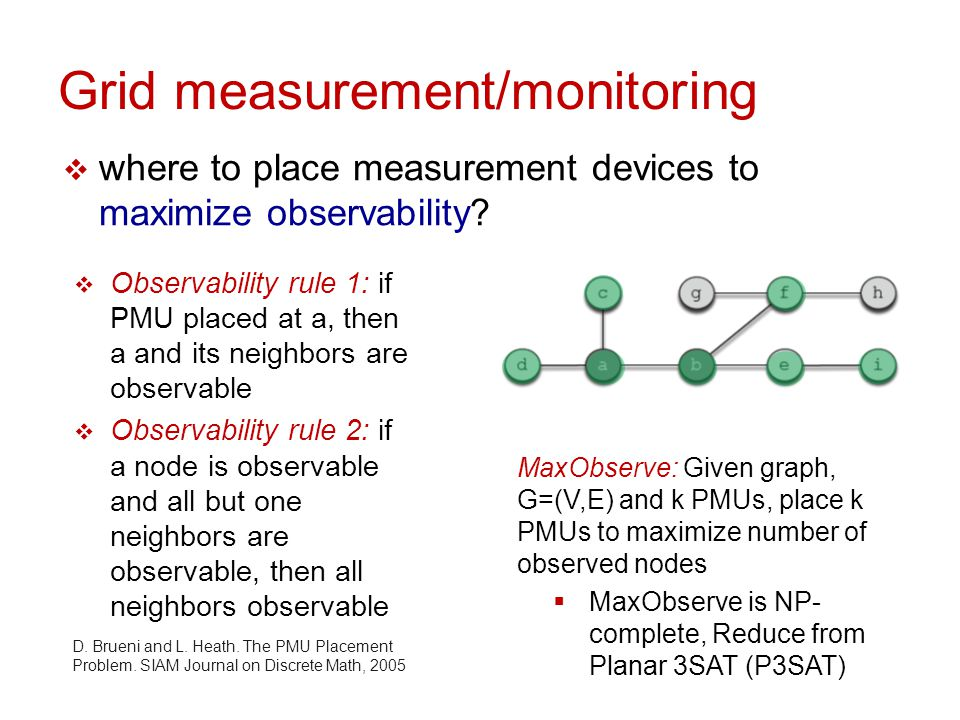 PMU placement with cross validation  where to place measurement devices to maximize measurement cross validation.