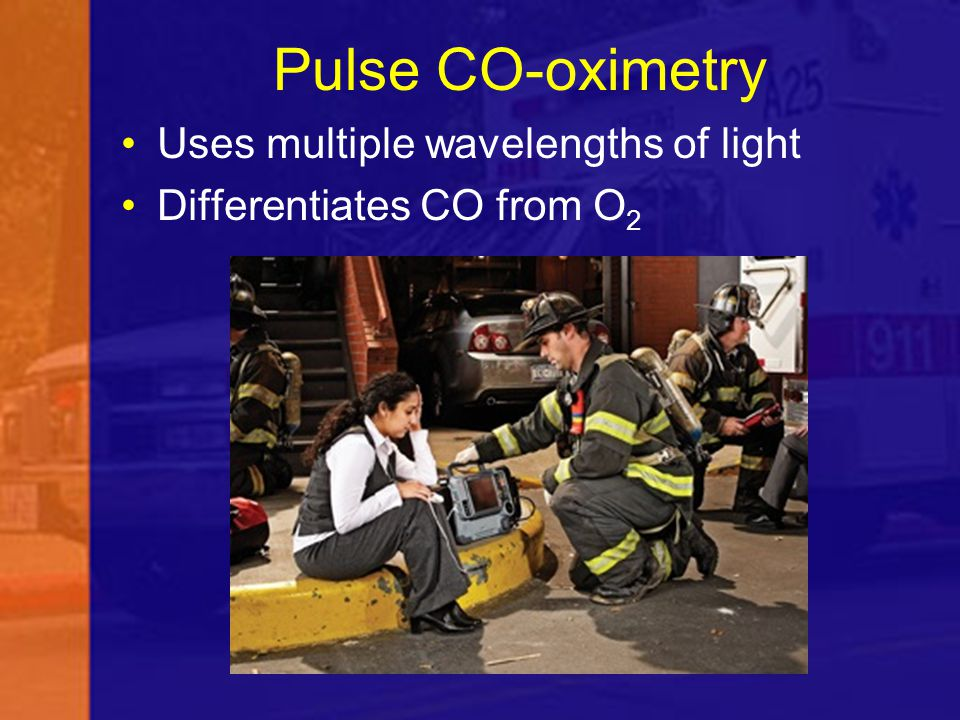 Uses multiple wavelengths of light Differentiates CO from O 2