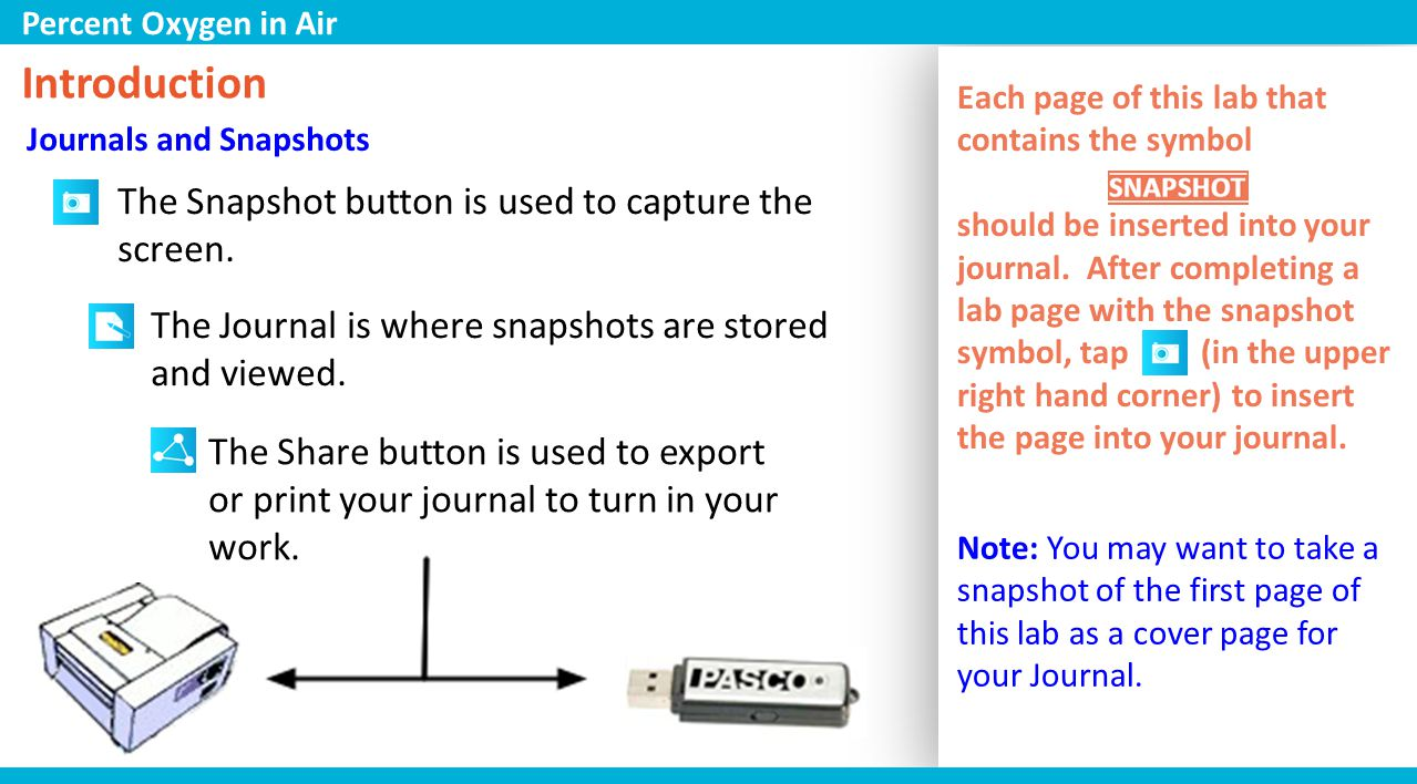 Collect Data 1.Place the stopper into the top of the test tube and tap to start collecting data.