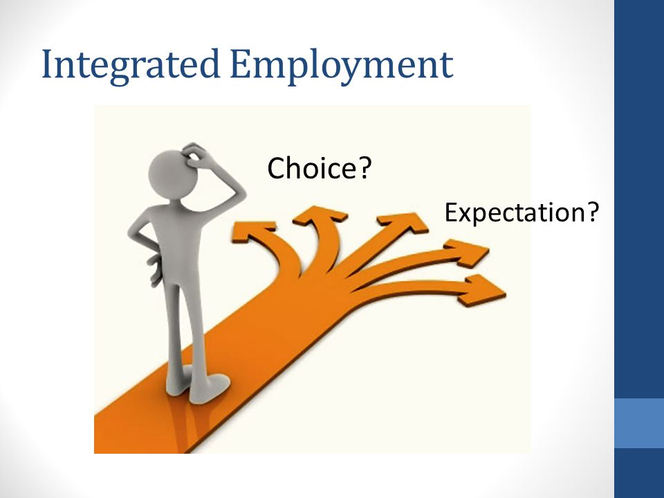 All people with disabilities viewed as capable of successful employment.