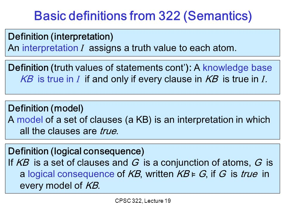Is it true that if CPSC 322, Lecture 19Slide 14
