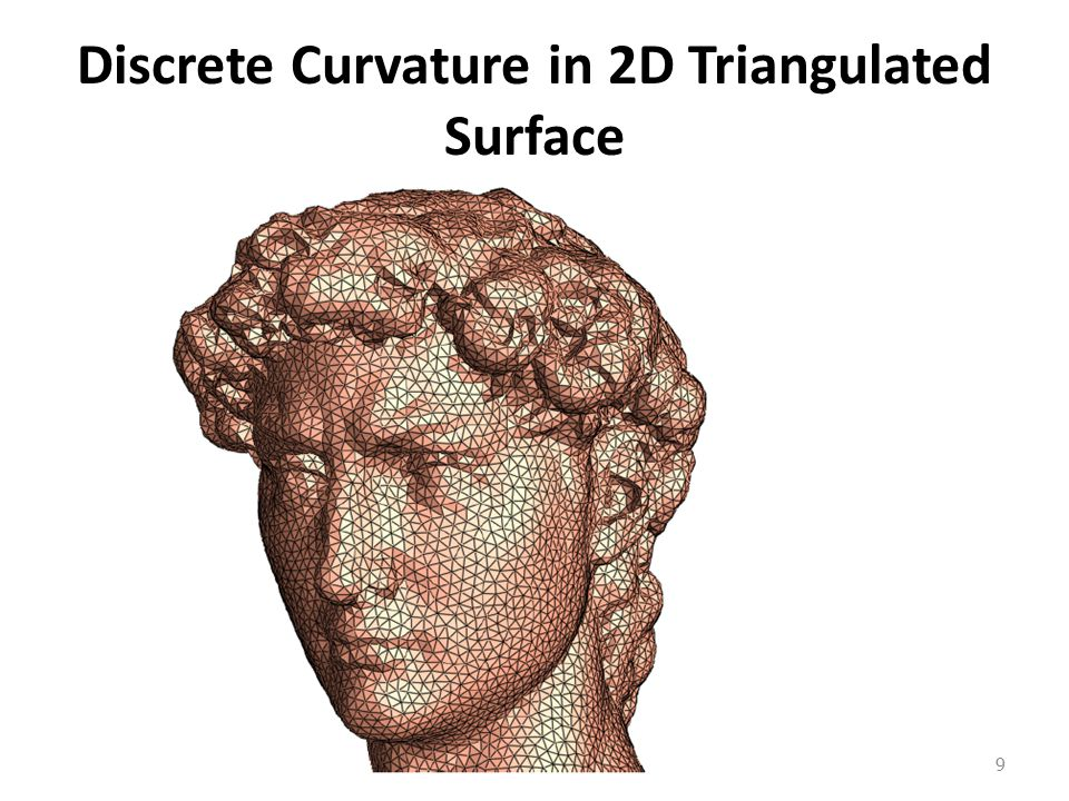Discrete Curvature in 2D Triangulated Surface 9