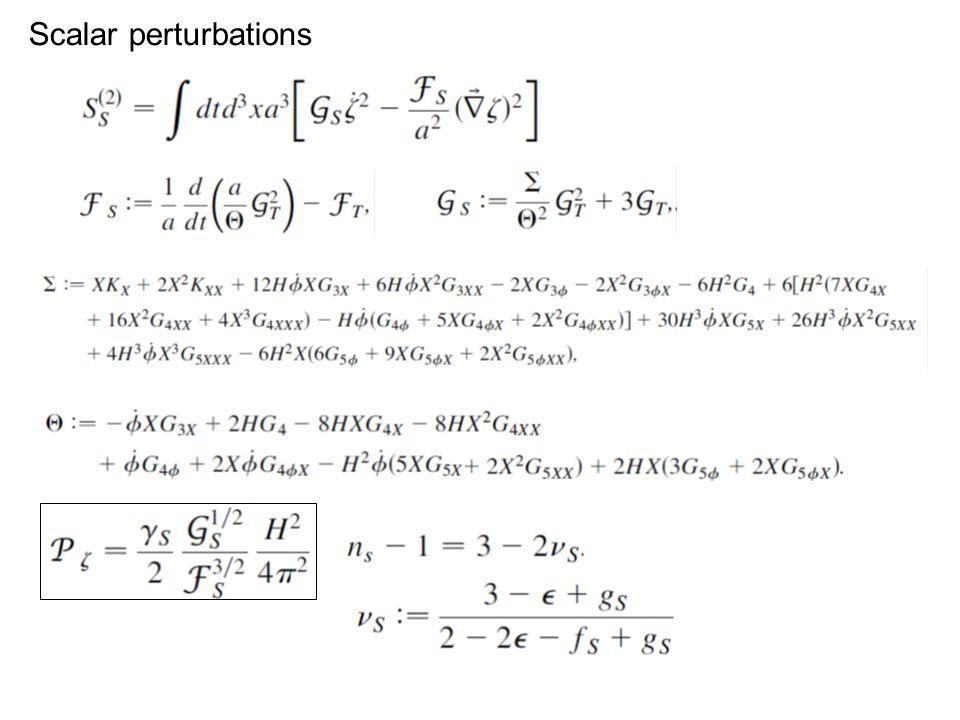 Scalar perturbations
