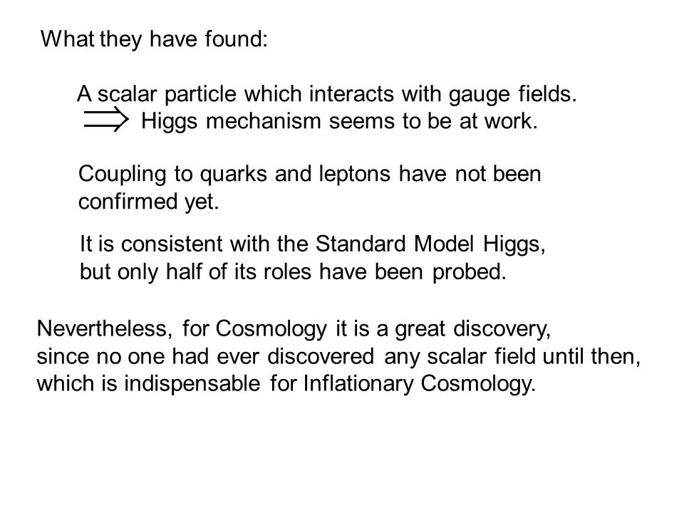 What they have found: A scalar particle which interacts with gauge fields.