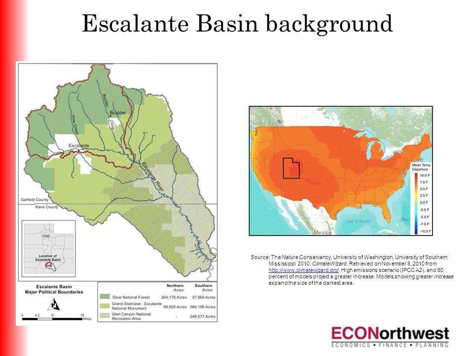 Escalante Basin background Source: The Nature Conservancy, University of Washington, University of Southern Mississippi.