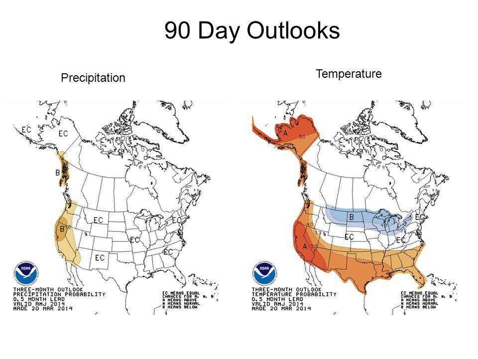 90 Day Outlooks Precipitation Temperature