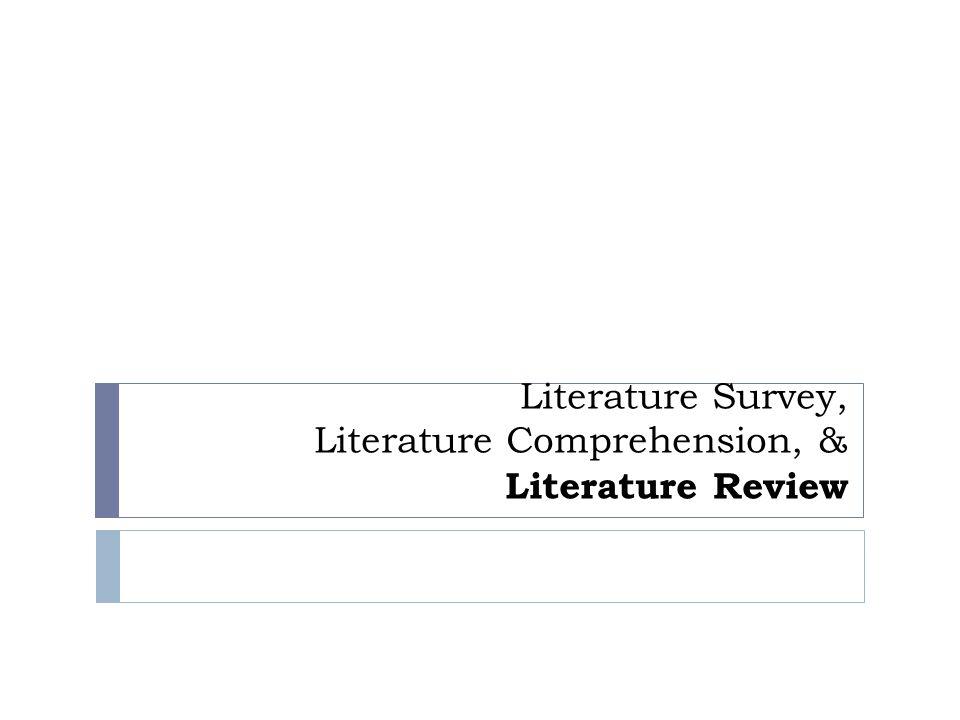 Literature Review Process Literature Comprehension Literature Review Literature Search Identifying Exploring Contextualising Formulating JustifyingNoting SummarisingCommenting Structuring Drafting Developing Clarifying
