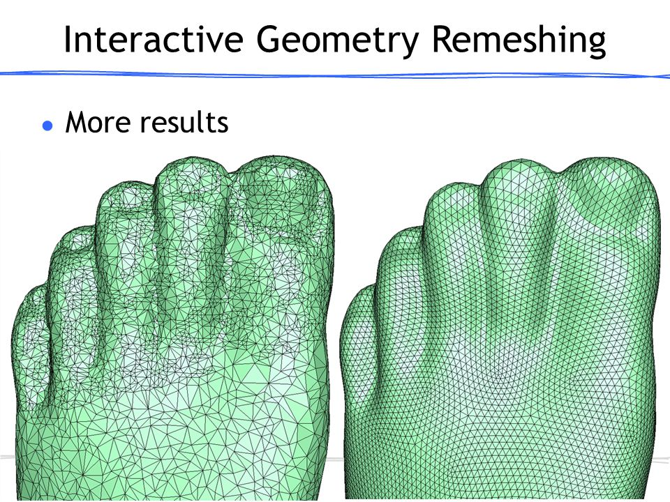 # ● More results Interactive Geometry Remeshing