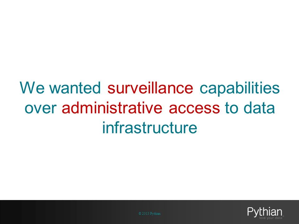Adminiscope architecture simplified © 2013 Pythian