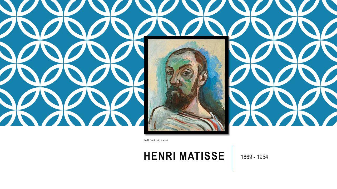 HENRI MATISSE 1869 - 1954 Self Portrait, 1906