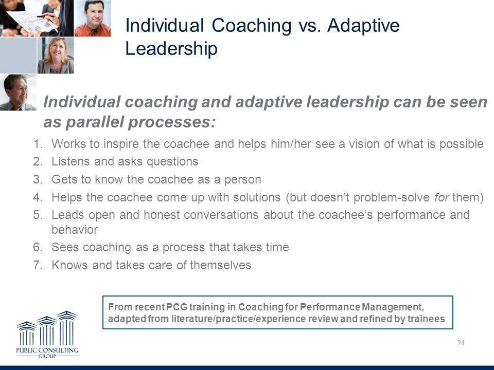 Individual Coaching vs.