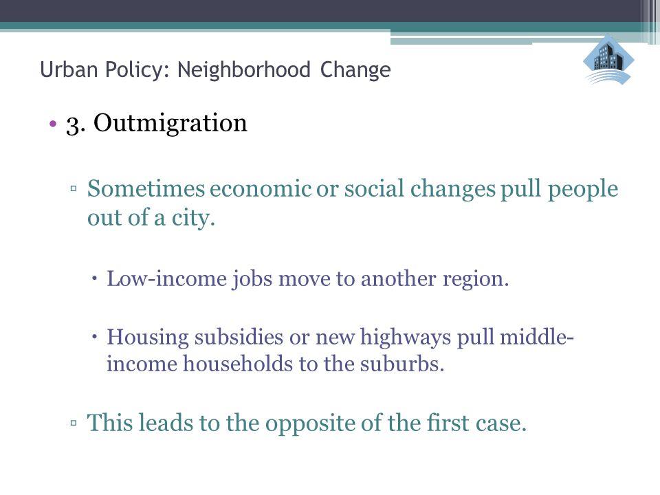 Urban Policy: Neighborhood Change 3.
