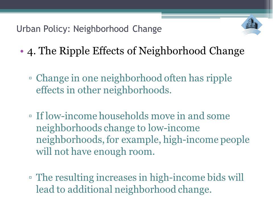 Urban Policy: Neighborhood Change 4.