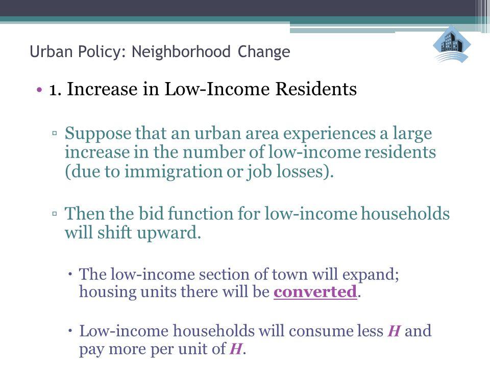 Urban Policy: Neighborhood Change Neighborhood Change These neighborhoods shift from high-to low-income