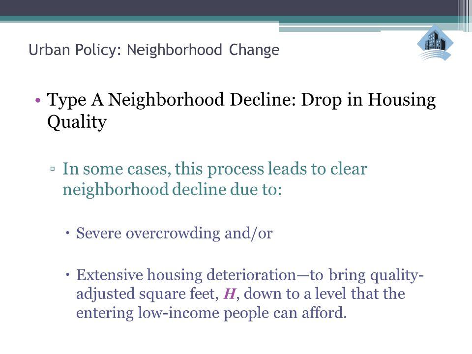 Urban Policy: Neighborhood Change 2.