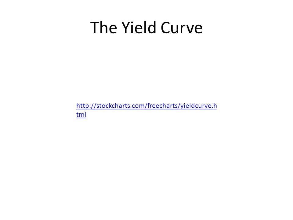 The Yield Curve http://stockcharts.com/freecharts/yieldcurve.h tml